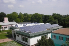 Kolektory na strechae, pohľad zhora